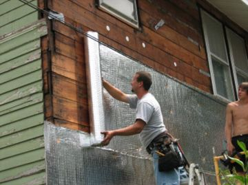 Microvent under wood siding energy info pinterest - Exterior house insulation under siding ...