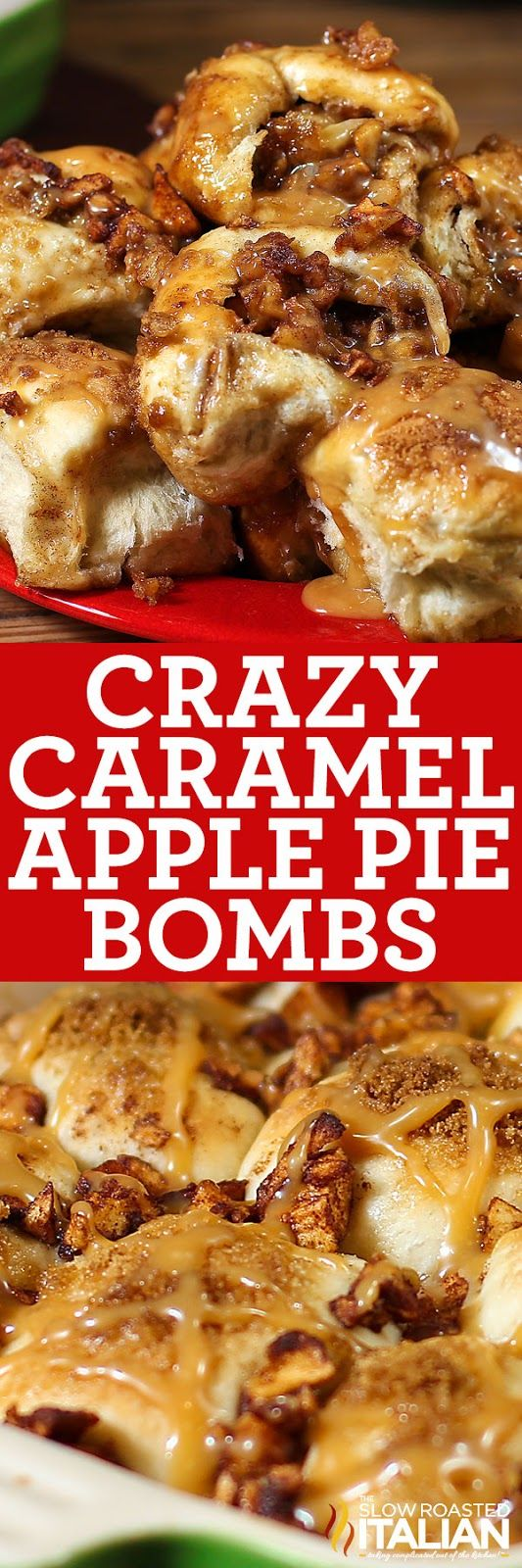 Crazy Caramel Apple Pie Bombs (With Video)