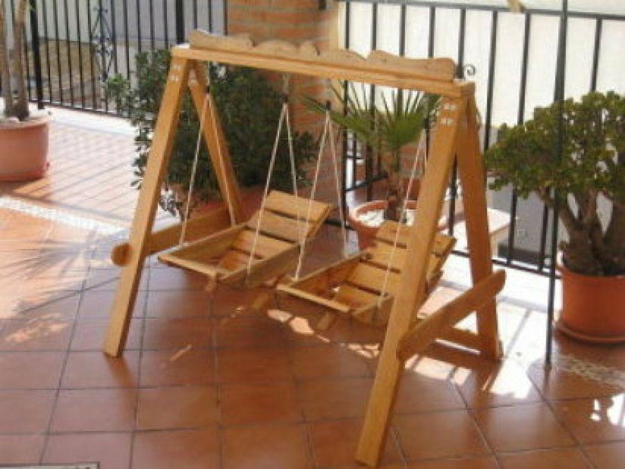 Juguetes de madera para navidad organizacion casa juguetes de madera artesanales juguetes - Columpios para casa ...