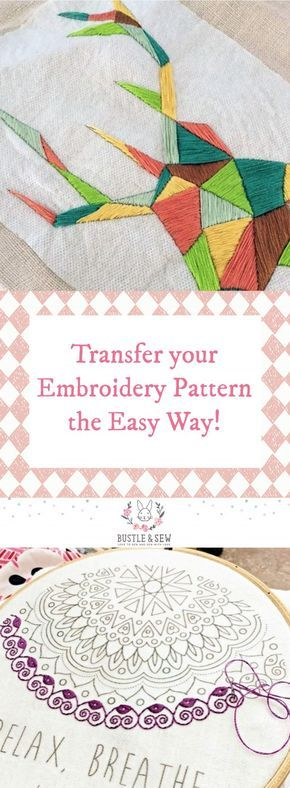 Transfer Your Embroidery Pattern The Easy Way Tutorial From Bustle