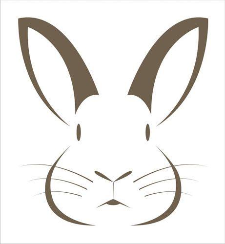 Afbeeldingsresultaat voor bunny stencil