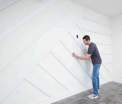 How to Create a Modern Board and Batten Accent Wall DIY