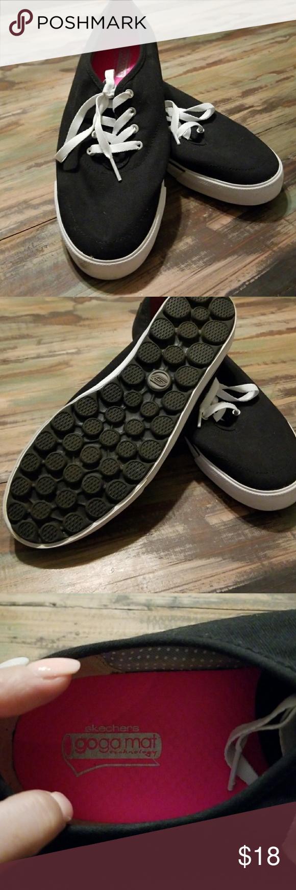 Black slip ons, Skechers shoes, Boat shoes