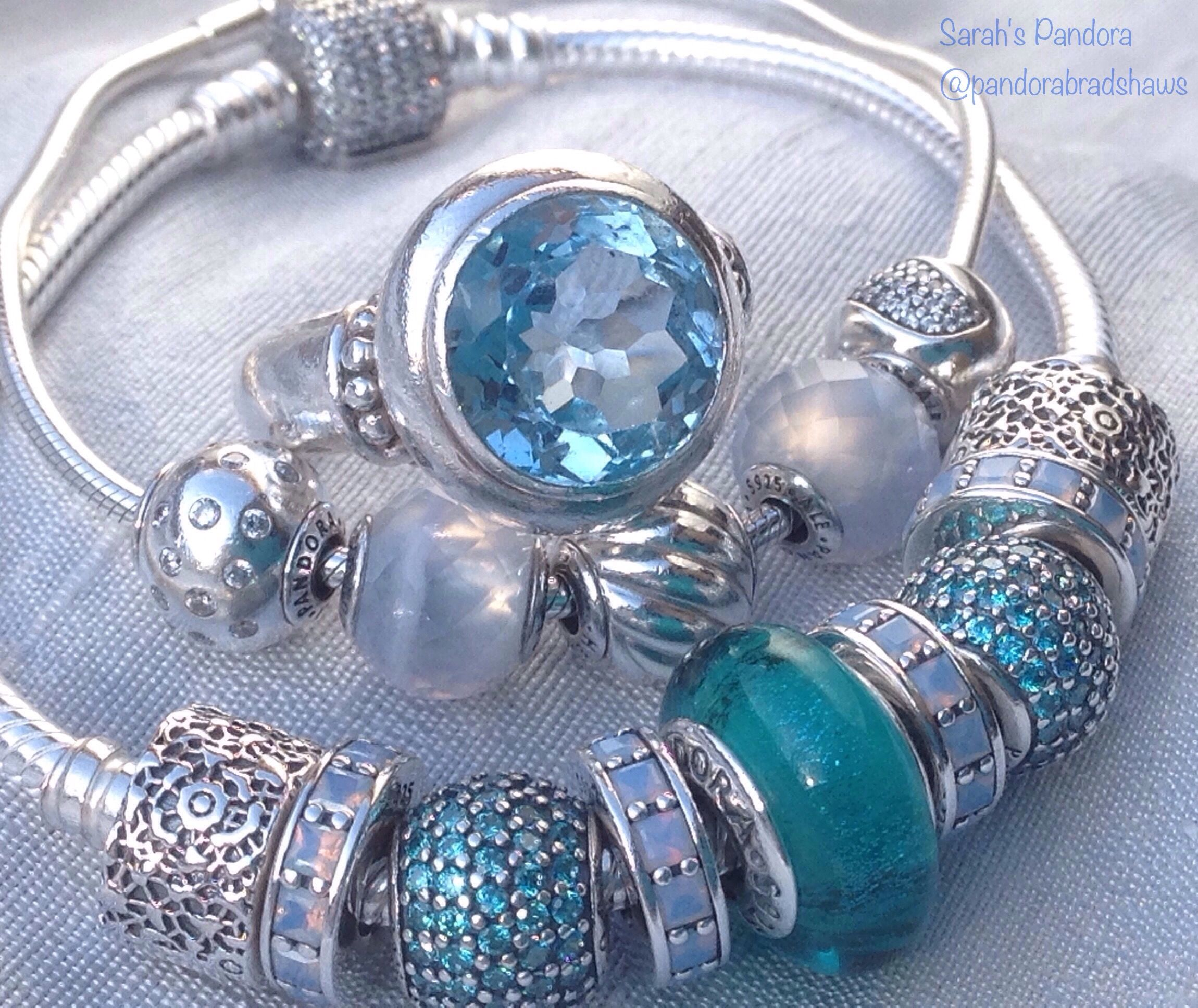 Beautiful blues A blue topaz bead for a December birthday If