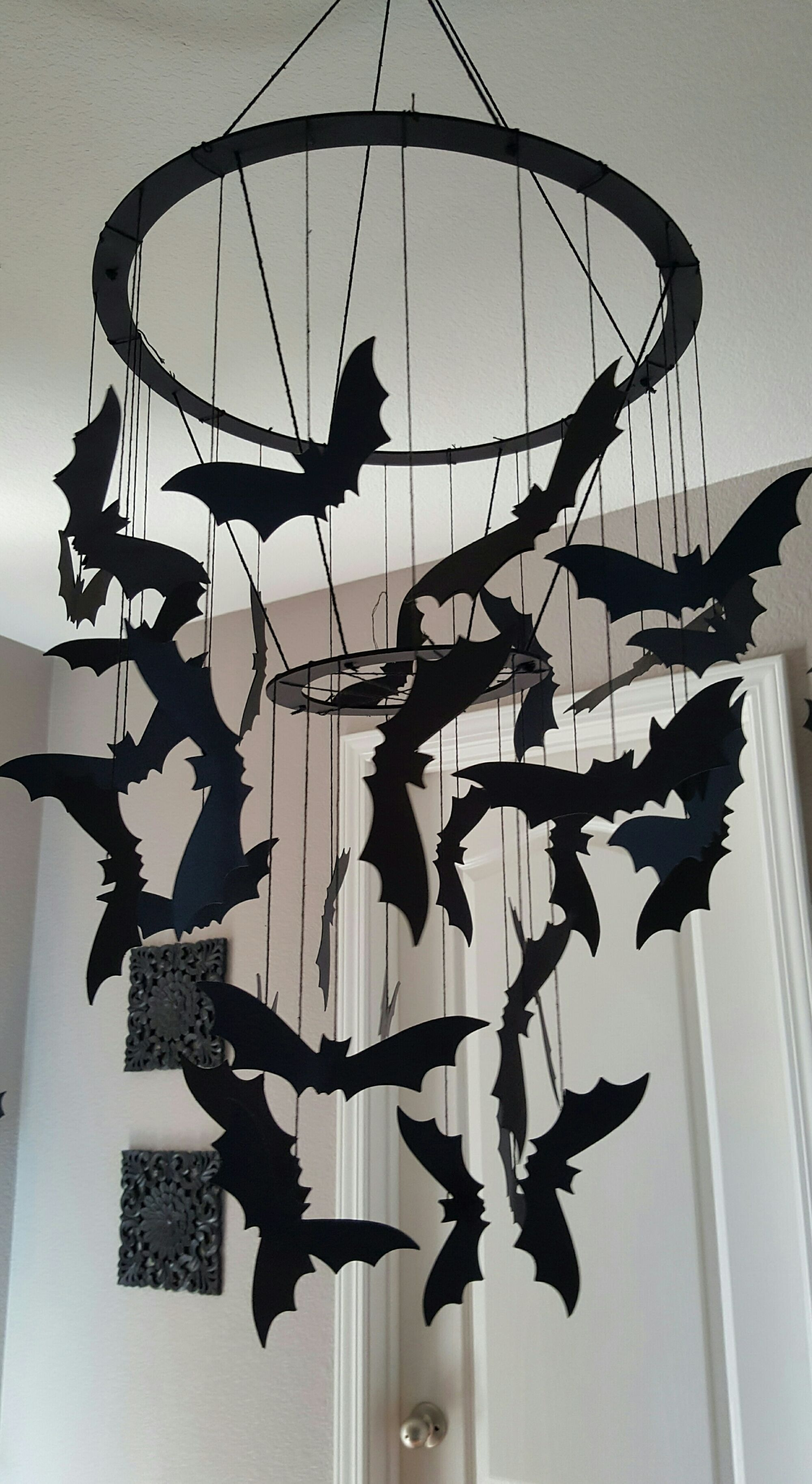 Halloween is one of my favorite holidays! I put up a few pieces in ...