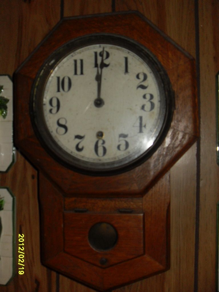 Very Old Schoolhouse Clock With
