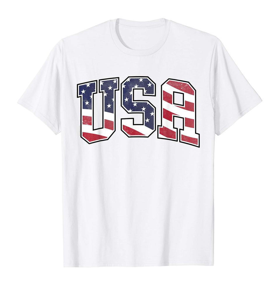 USA t-shirt American flag unisex t-shirt patriotic july 4th shirt red white blue
