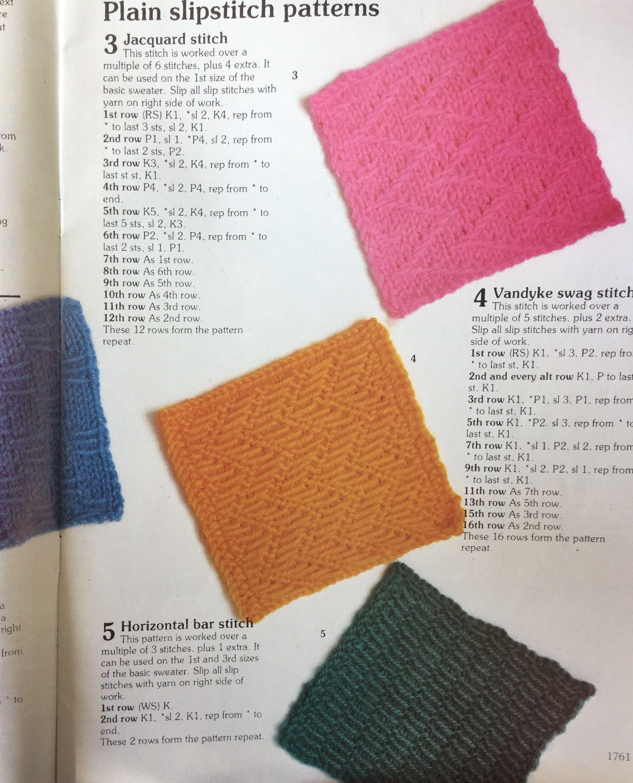 Slip Stitch Patterns Knitting Stitch Library Busy Needles Part 64