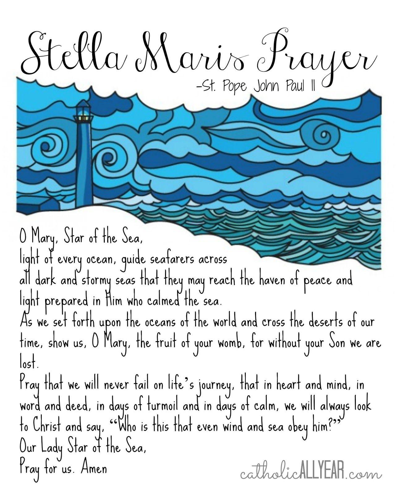 Catholic All Year Stella Maris Prayers By Jpii