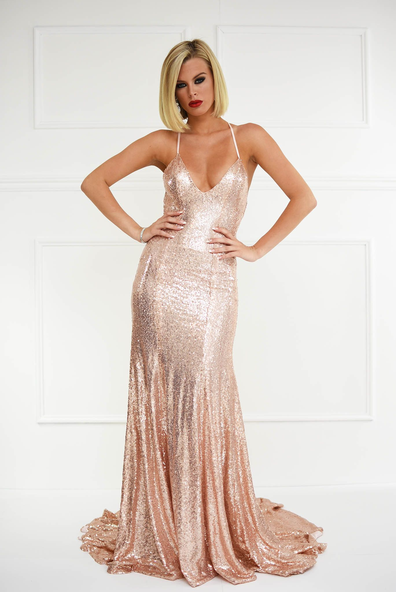 Estelle Gown - Rose Gold | Dress ideas | Pinterest | Gowns, Formal ...