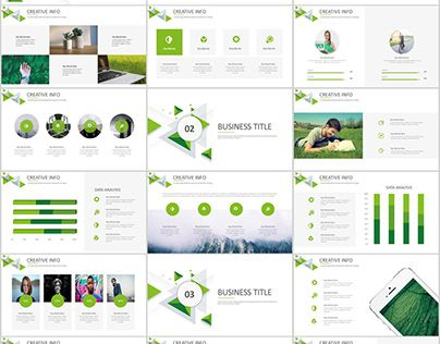 27 green business dynamic powerpoint presentations tem ppt