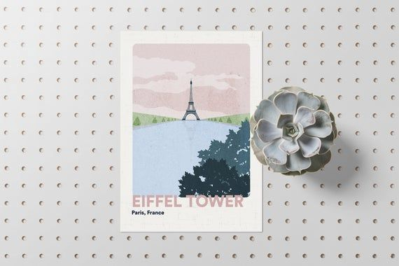 Photo of Paris Poster // Eiffel Tower Wall Art Prints // France Travel Gift // Minimalist – Home decor