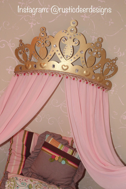 Corona con dosel / por encima de la cama con dosel / corona princesa ...