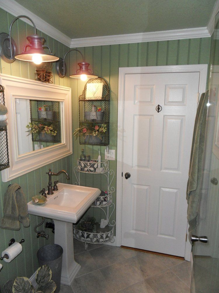 complete remodel of master bathroom. use of t-111 siding as wall