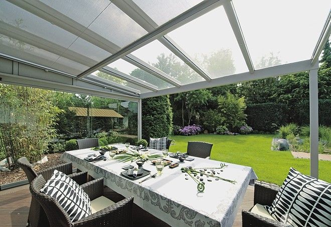 Captivating Glass Roof Terrace Cover For Garden And Patio