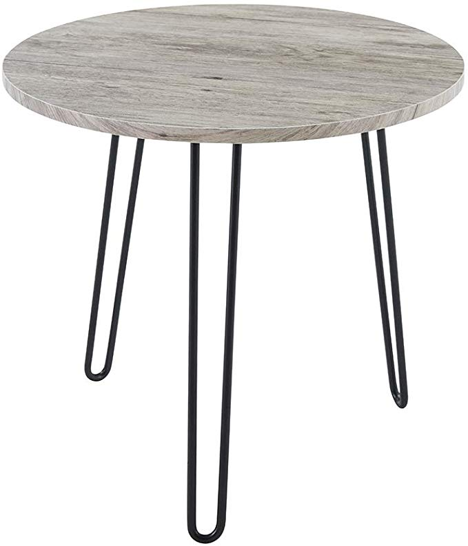 Amazon Com Small Round Side Table Modern End Accent Cocktail Coffee Table Round Tabletop Round Metal Coffee Table Round Coffee Table Modern Modern Side Table