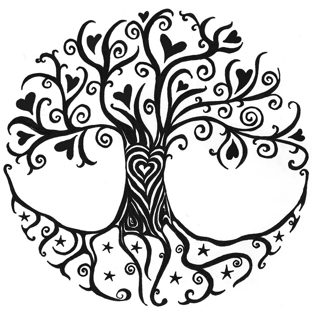 Logo árbol De La Vida Más Tree Colouring Pinterest Levensboom