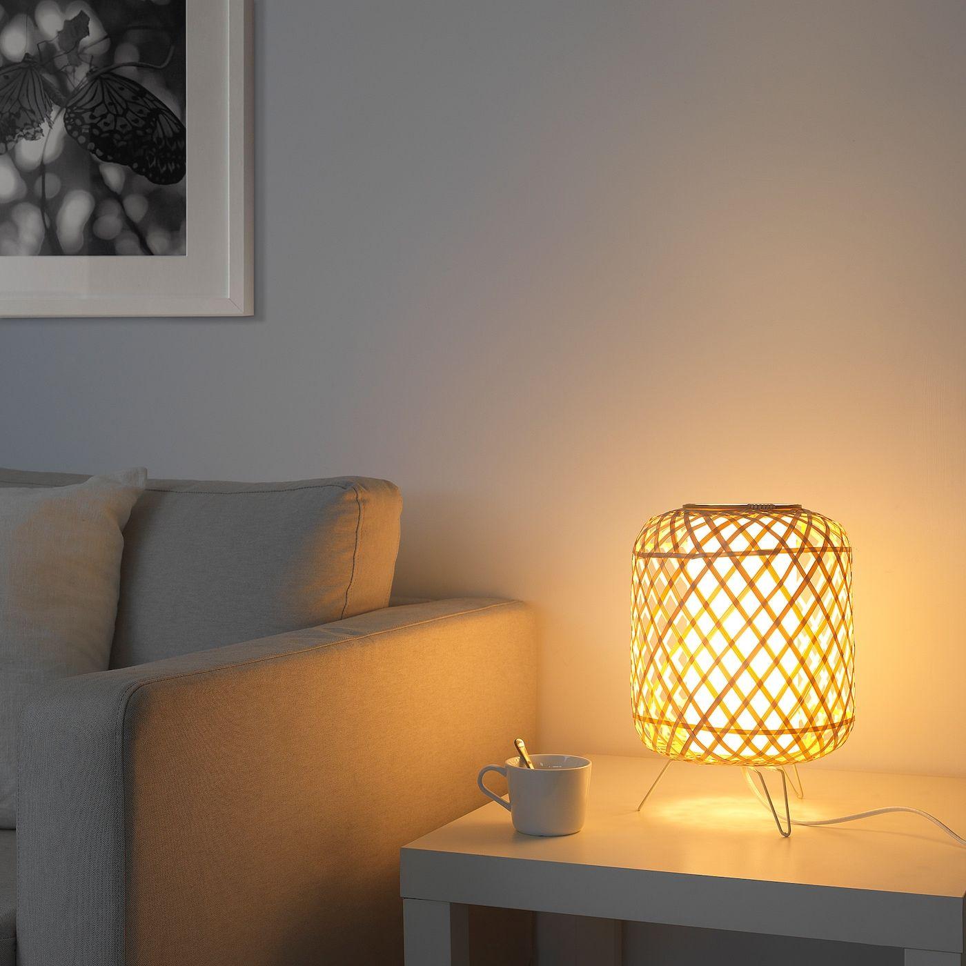 GOTTORP Lámpara de mesa, bambú IKEA en 2020 | Lámparas de