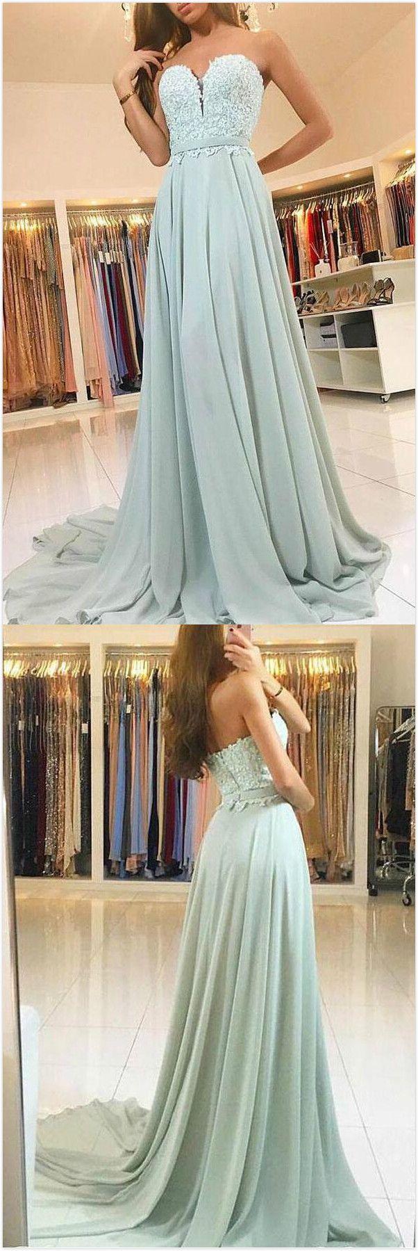 Glamorous Prom Dress,A-Line Sweetheart Prom Dress,Chiffon Prom Dress ...