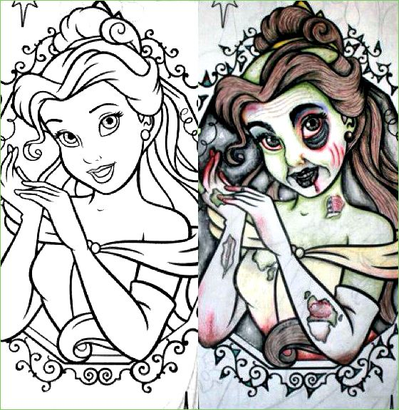 Guest Post Rot Princess Princess Coloring Pages Zombie Disney Zombie Princess