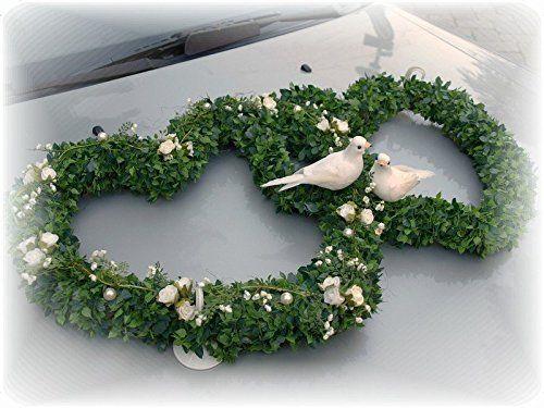 Autodeko Autoschmuck Herz Hochzeit Doppelherz Autoherz