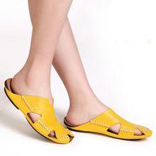 35 45 Kobiety Sandaly 100 Autentyczne Skorzane Gladiator Sandaly Damskie Buty Na Lato Plaza Slajdy Buty Damsk Zapatillas De Cuero Zapatos Mujer Zapatos Verano
