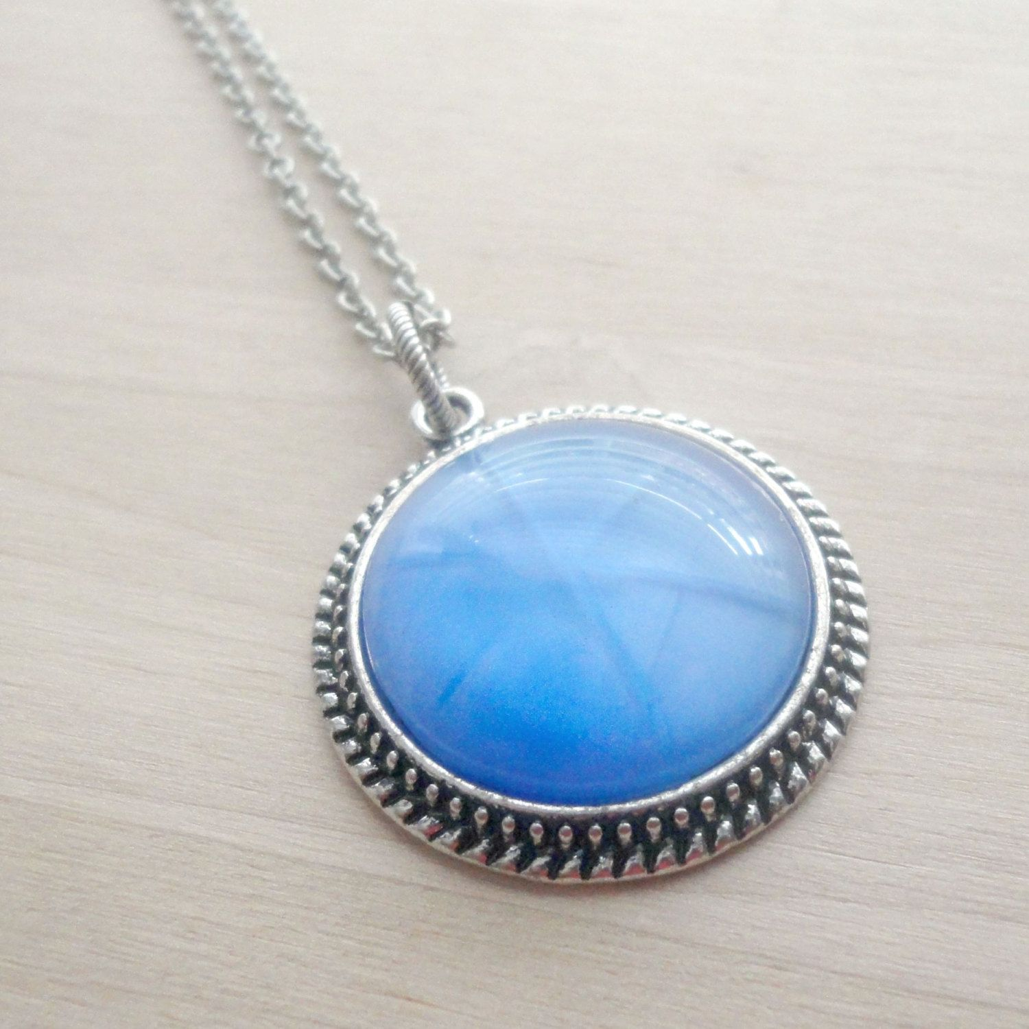 stone necklace moon gem pendant moonstone sterling round bezel ready silver gemstone for with bail
