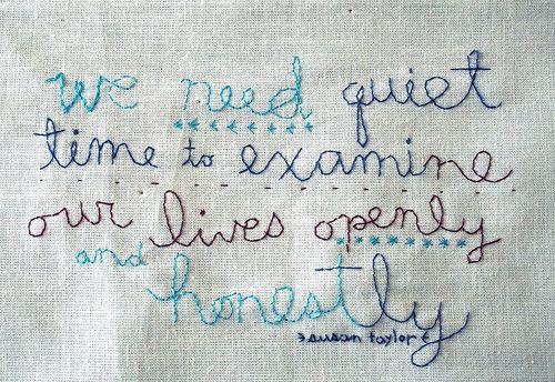 We Need Quiet Time...