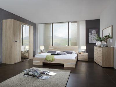 Eiche Schlafzimmer ~ Schlafzimmer mit bett cm grau metallic eiche sanremo