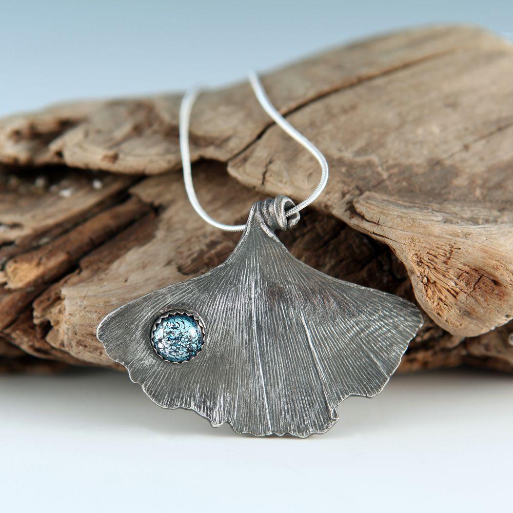 Metal Clay Ginkgo Pendant | JewelryLessons.com