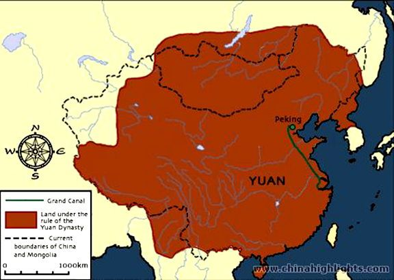 Modern Day China Map.Yuan Dynasty Mapthis Map Shows The Land Of The Yuan Dynasty 1271
