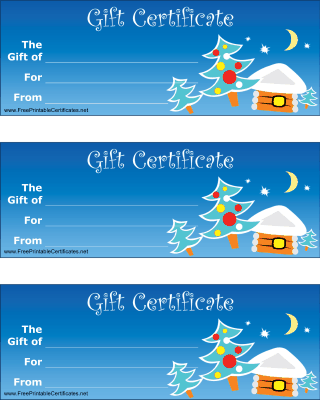 free christmas gift certificates