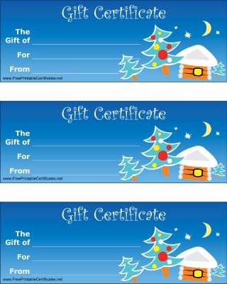 printable christmas gift certificates
