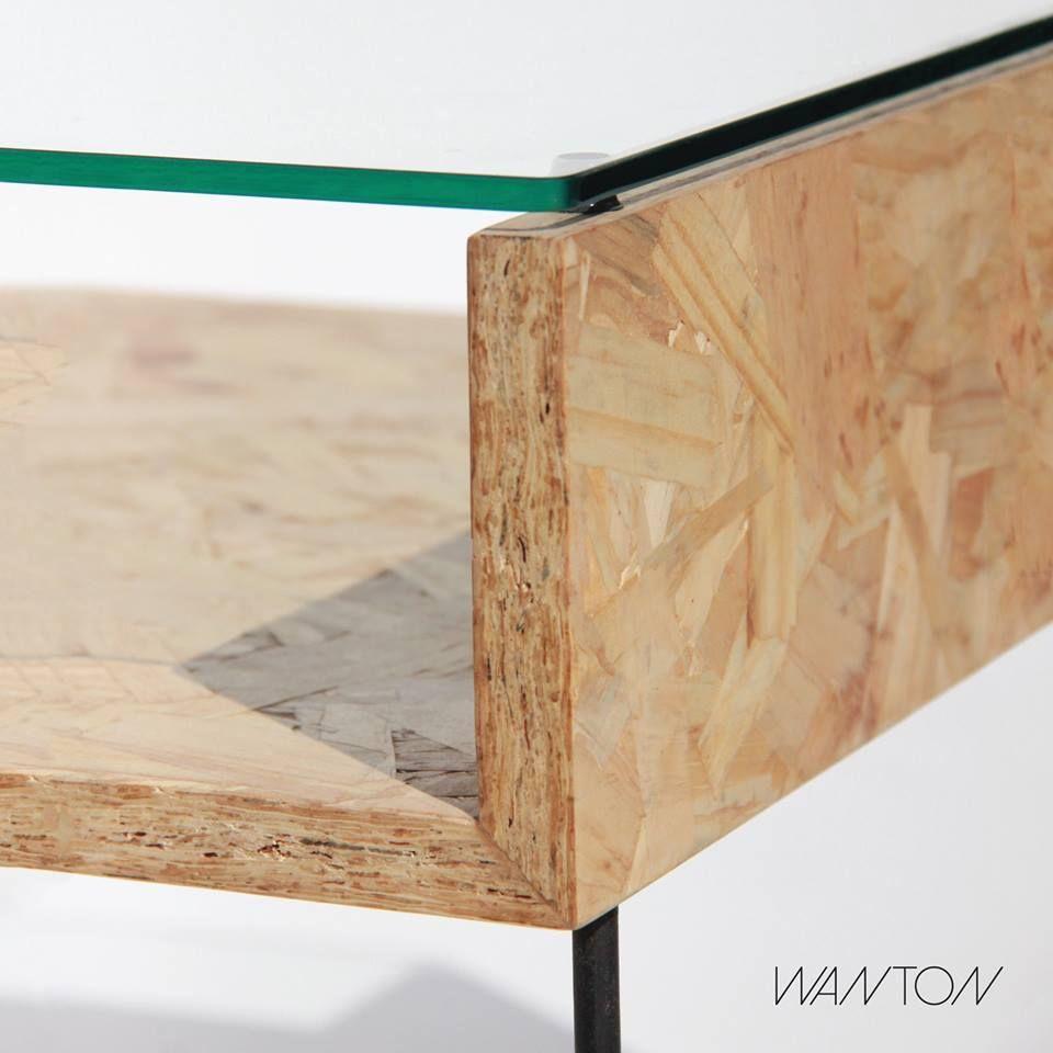 Pannelli Di Legno Osb mesa ratona william osb/vidrio/hierro   muebles hechos con