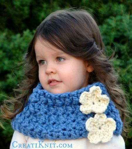 Perfect Child Cowl Crochet Pattern Photos Easy Scarf Knitting