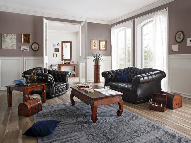 Chesterfield Sofa Glasgow 2 Sitzer Wohnzimmer Einrichten