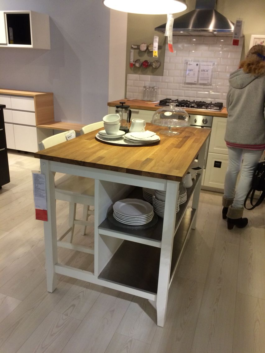 Ikea Stenstorp Kitchen Island Modern Kitchen Apartment Kitchen