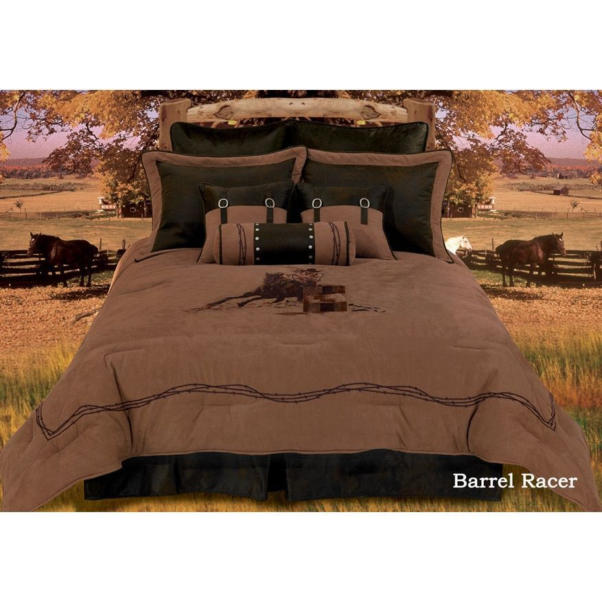 Hiend Accents Barrel Racer King Size Comforter Set Western
