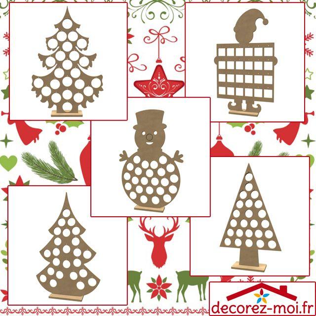 Diy calendrier de l 39 avent en bois d corer calendrier - Calendrier de l avent en bonhomme de neige ...