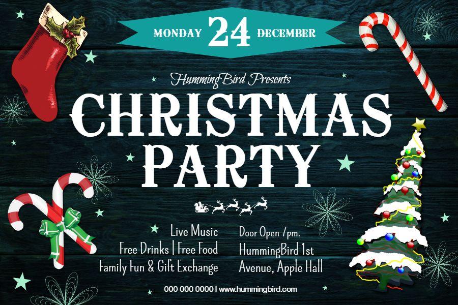 Christmas Poster Christmas Brochure Christmas Party Invitations Printable Christmas Party Invitation Template