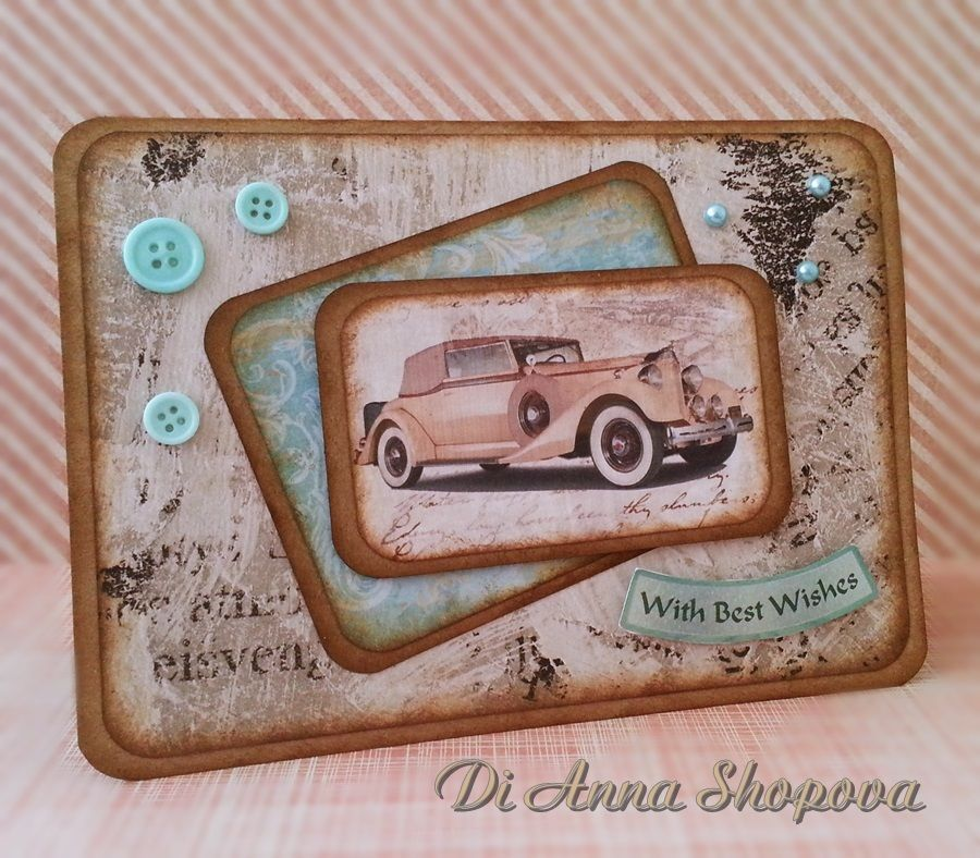 Handmade birthday card male vintage car greeting card for him men handmade birthday card male vintage car greeting card for him men bookmarktalkfo Image collections