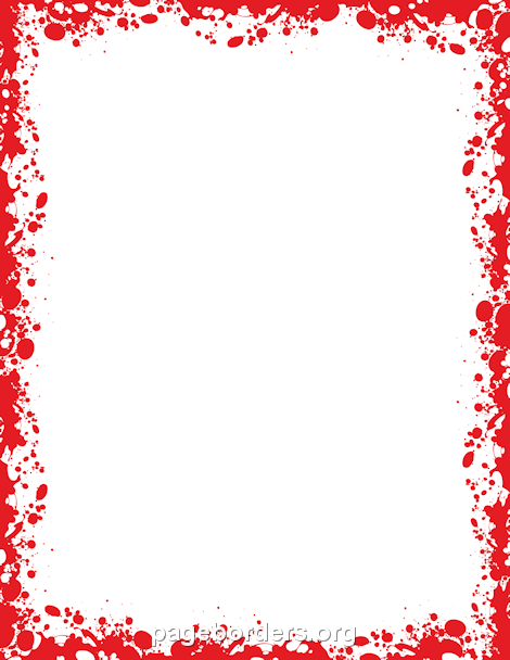 Printable Blood Border. Use The Border In Microsoft Word Or Other Programs  For Creating Flyers