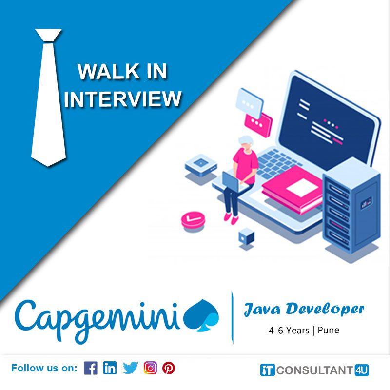 Capgemini Is Hiring Java Developer Itconsultant4u In 2020 Job Opening Help Finding A Job Development