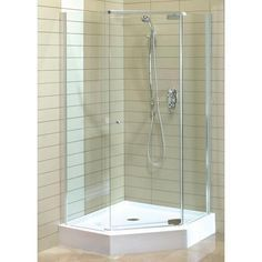 Maax Magnolia Angle Acrylic Shower Kit The Home Depot Canada Corner Shower Kits Shower Stall Shower Remodel