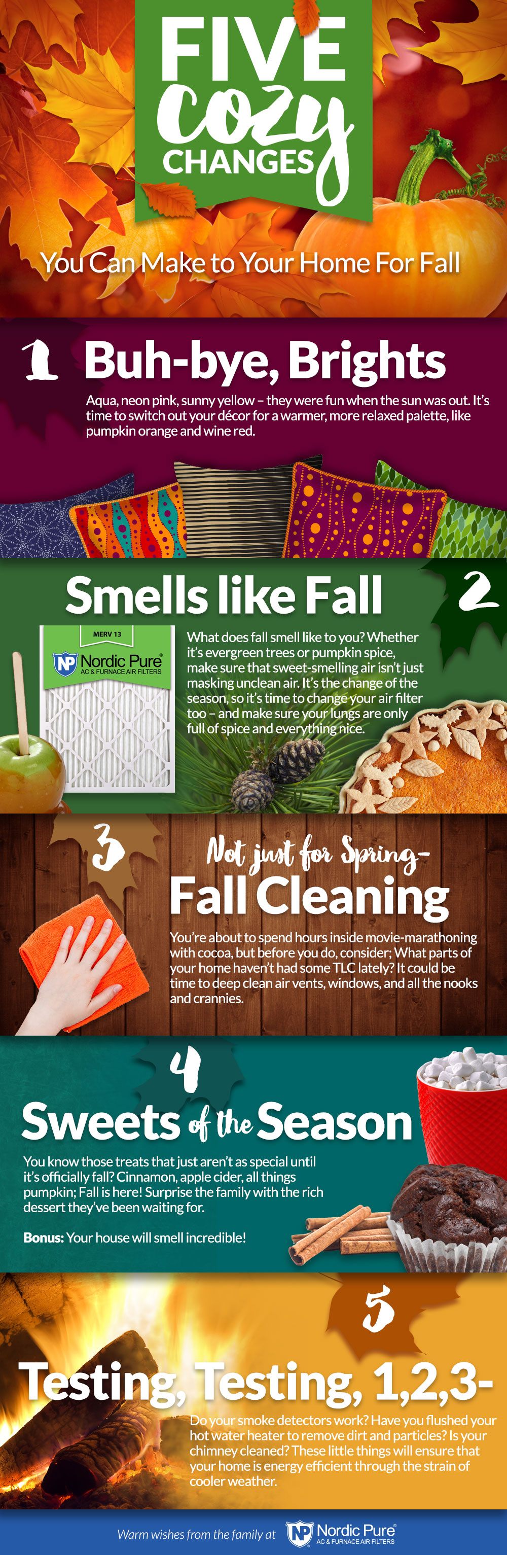 5 Cozy Changes for Fall! Get ready pumpkin spice fans!