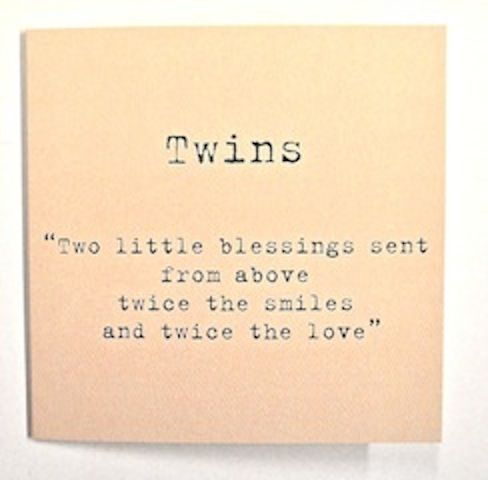Card For Twins 2 99 Www Twinsgiftcompany Co Uk Twins Twins