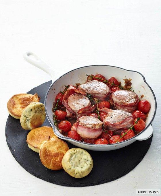 Schweinemedaillons mit Yorkshire-Pudding