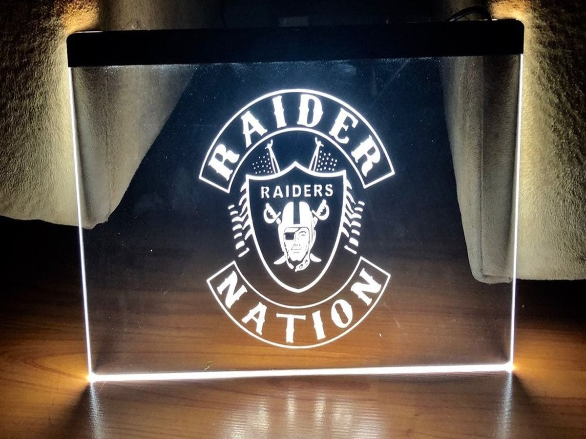 Oakland Raiders Rugby Team LED Neon Sign home decor bar
