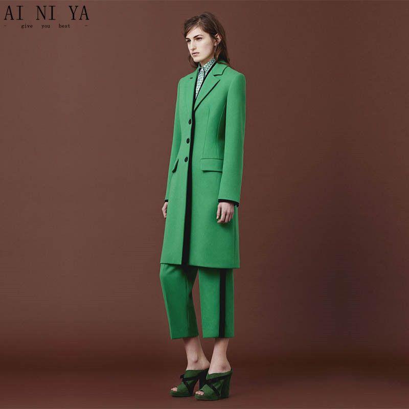 Green Pant Suit Ladies