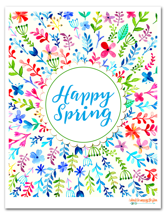 Newsletter Exclusive Happy Spring Printables Happy Spring